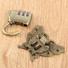 Butterfly Jewelry Box Latch Clasp with Password Padlock Lock Key Hardware Set
