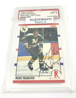 1990 Score Mike Modano Graded Autograph Rookie Card PSA/DNA Certified 198-L