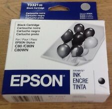 EPSON Black Ink Cartridge T3021 for Stylus C80 C82 CX5200 New & Genuine