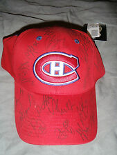 Montreal Canadiens red cap signed by 19 players/coaches