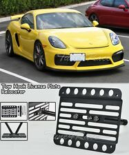 For 15-UP Porsche cayman 981 GT4 Front Tow Hook License Plate Bracket No PDC