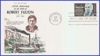USA3 #1270 U/A COVER CRAFT FDC   Robert Fulton