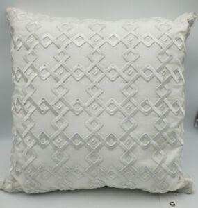 """Hotel Collection Embroidered 22"""" Square Decorative Pillow"""