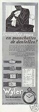 PUBLICITÉ 1933 WYLER INCASSABLE MONTRE DE POCHE BRACELET DAME NICKEL 100 MODÈLES