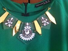 Atmosphere Green Dress With Necklace Size 16 New With Tags