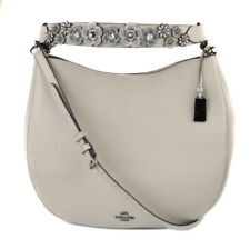 Coach Women's Grey Birch Willow Floral Nomad Hobo Purse Bag Ret $575 New