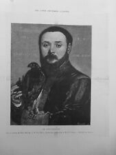 1878 i FAUCONNIER GRAVURE EXTRAITE HANS HOLBIN M.PAUL MANTZ