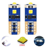 2 ampoules à LED CREE veilleuses feux de position blanc Renault  Megane 1 2 3