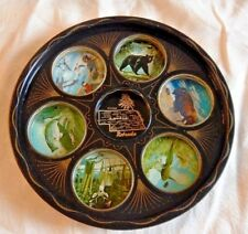 Vintage 1950s Nebraska drink tray Wildlife Art James Artig Hunting Fishing
