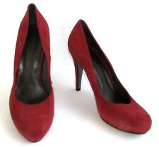 MINE DE RIEN - Escarpins talons 10.5 cm cuir velours rouge 39 EXCELLENT ETAT