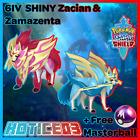 Pokemon Sword and Shield 6IV Shiny Battle Ready Zamazenta & Zacian + Masterball