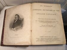 Dr. Webster's Complete Dictionary of the English Language. London, 1864