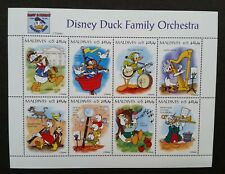 Maldives 1995 - Disney/Donald Duck 60th Birthday Duck Family Orch Mnh Sheet Coa