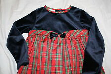 NWOT YOUNGLAND GIRL Holiday Christmas PORTRAIT RED BLACK Plaid Dress 10 LAST ONE