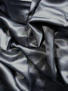 "100% mulberry silk charmeuse Queen Duvet Blanket cover 86x86"" in Dark Gray grey"