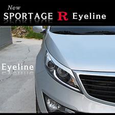 Headlight Eyebrow Eyelid 2p UD White for 2011 2013 Kia Sportage