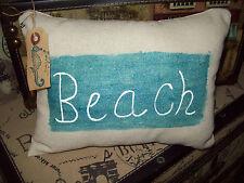 SMALL Beach decor pillow cottage chic beach house Nautical Coastal sea Shabby