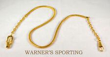 """WARNER WHISTLE SNAKE CHAIN EPAULET CLIP >GOLD< 20"""" UNIFORM"""
