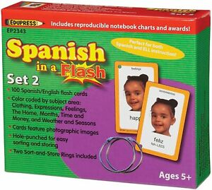 Edupress Spanish in a Flash Cards Set 2 (EP2343)