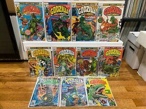 GODZILLA KING OF THE MONSTERS - 11 Issue lot - Marvel Comics 1977 VF/NM Kaiju