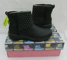 LADIES SKECHERS BLACK ON THE GO JOY WINTER GLAM LEATHER ANKLE BOOTS  SIZE UK 6