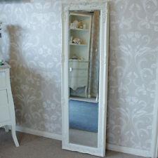 Ivory cream ornate wall mirror tall shabby freestanding floor slim dressing shop