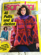 Strickheft Sandra 10 / 89 Zeitschrift Stricken Damen Herren Kinder Bilder Pullis