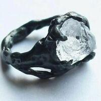 NEW Creative Iceberg Irregular White Crystal Ring Fashion Women Men Punk Jewelry