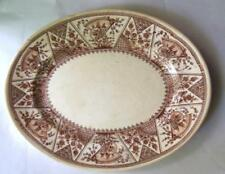 Vintage Brighton Maroon Oval Serving Dish Plate 9 x 11""