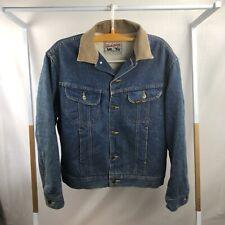 e2532ab7e1e Vintage Lee Storm Rider Men s Sz 40 Denim Sherpa Lined Jacket Coat Blue EUC