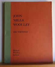 John Mills Woolley, 1822-1864: His Writings 1976 Jackson - Mormon LDS History