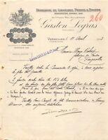 Ancienne lettre - Fabrique de liqueurs, fruits & sirops Gaston Legras - 1913