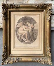 gravure ancienne encadree Psyché Cipriani F.BARTOLOZZI cadre Ancien 19 E