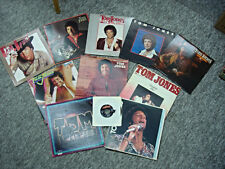 "TOM JONES RECORD ALBUM COLLECTION - 11 - 12"" 33 1/3 ALBUMS + BONUS 45 RPM"