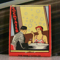 Vintage Matchbook Cover T6 Milwaukee Wisconsin White Pub Cocktail Bar Broadway