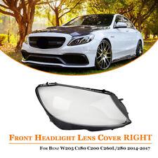 Right Headlight Headlamp Len Cover For Benz W205 C180 C200 C260L/280 2014-2017