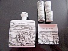 TOPOGRAPHIA HELVETIAE SET OF SWISS CERAMICS (SPIRIT BOTLE, SHOT GLASSES)