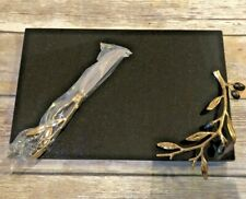 Michael Aram Olive Branch Cheese Board With Knife NEW
