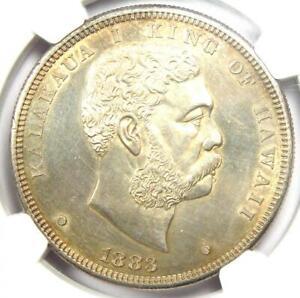 1883 Hawaii Kalakaua Dollar $1 Coin - Certified NGC Uncirculated Detail (UNC MS)