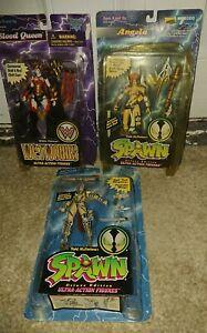 Bundle 3 Retro Mcfarlane Toys SPAWN Figures, Blood Queen, Angela Cosmic Angela