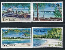 1994 TUVALU BEACH SCENES SET OF 4 FINE MINT MNH SPECIMEN OVERPRINT