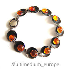 Nils Erik From Silber Armband Bernstein N.E. FROM silver bracelet Modernist