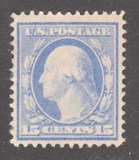 U.S. STAMP #382 15c WASH-FRANK FLAT, p12, w190 1911 UNUSED