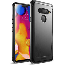 Poetic® LG V40 Slim Fit TPU Case [Karbon Shield] w/ Carbon Fiber Texture Black