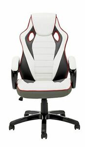 X Rocker Leather Effect Gaming Chair - White