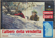 FOTOBUSTA 2, L'ALBERO DELLA VENDETTA Ride Lonesome RANDOLPH SCOTT,WESTERN POSTER