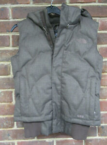 The North Face Ladies Brown Hooded Zip Up Gilet Size Small  3117