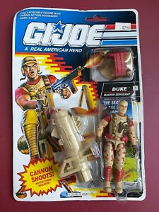 "1991 HASBRO GI JOE SERGEANT DUKE RE-SEALED CARDED 3 3/4"" COMPLETE Action Figure"