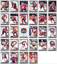 1992-93 MCDONALDS UPPER DECK HOCKEY COMPLETE 28 CARD SET LOT  Yzerman Jagr