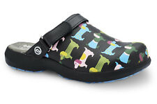Toffeln Ultra Lite 0696 - Coloured Dogs - Womens Work Clogs